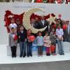 Pendik'te karanfilden Türk Bayrağı