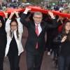"""Başkan Türkmen, """"2023 yılında da 2023 metre bayrak yapacağız"""""""