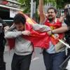 Beşiktaş'ta bir gruba müdahale