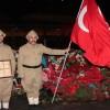 İstiklal Savaşı ruhunu yaşayarak Şehitler Tepesi'nde nöbet tuttular