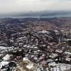 İstanbul'un havadan karlı görüntüsü