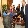 Başkan Ahmet Poyraz, minik misafirlerini makamında ağırladı