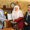 Mihalgazi Belediye Başkanı Zeynep Akgün, Başkan Hasan Can'ı ziyaret etti