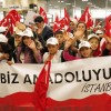 """Şırnaklı öğrenciler, """"Biz Anadolu'yuz"""" projesiyle ilk defa uçağa bindiler"""
