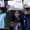 Öğrenciler yarıyıl karnelerini aldı