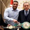 Dünya Şampiyonu Suriyeli Charr, altın kemerini Cumhurbaşkanı Erdoğan'a takdim etti