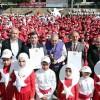 Bağcılar'da bin 380 çocuk işaret diliyle İstiklal Marşı'nı okuyarak rekor kırdı