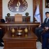Ahmet Özcan, usta siyasetçi İsmail Erdem'i ziyaret etti