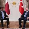 Cumhurbaşkanı Erdoğan, Katar Emiri Şeyh Temim ile bir araya geldi
